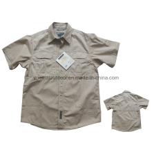 Camisa militar táctica de manga curta para o exército