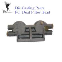La alta presión a presión los componentes de la fundición para el cabezal de filtro dual, fábrica certificada ISO / TS16949