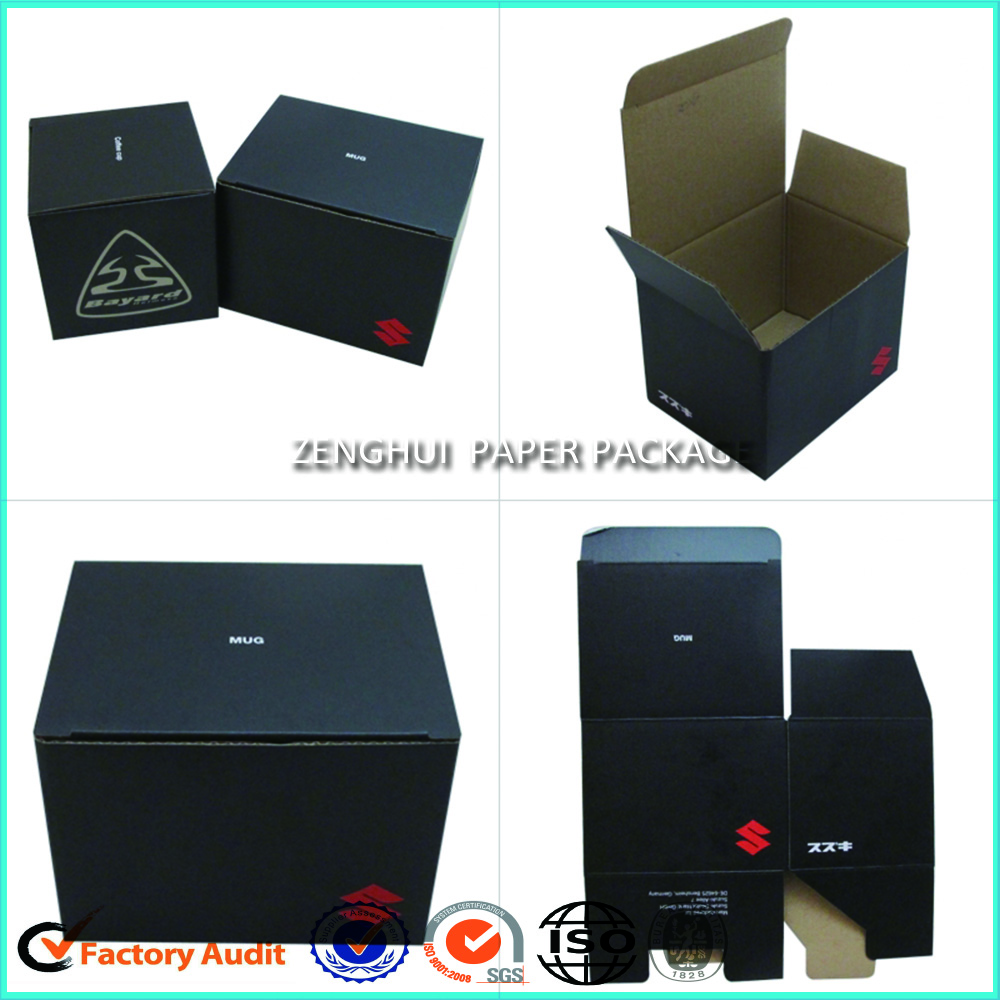 Black Corrugated Packaging Boxes With Lid