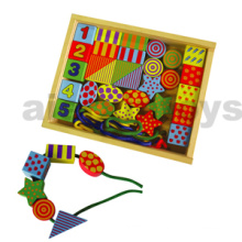 Wooden Lacing Bead Toy in Wooden Box (80168)
