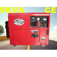 5kw monophasé et triphasé silencieux diesel générateur avec CE ISO