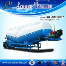 50cbm Bulk Cement Cargo Tanker Trailer / Low Density Bulk Cement Powder Material Transport Tank Semi Truck Trailer