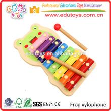 OEM / ODM aprobado hecho a mano colorido bebé música juguetes de madera xilófono de juguete al por mayor