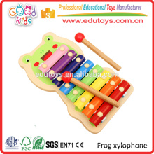 OEM/ODM Approved Handmade Colorful Baby Music Toy Wood Xylophone Toy Wholesale