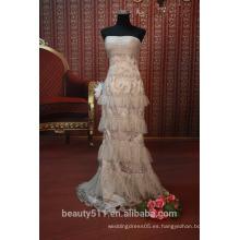 EN STOCK Off-The-hombro vestido de fiesta de las mujeres de piso-longitud vestido de fiesta SE95