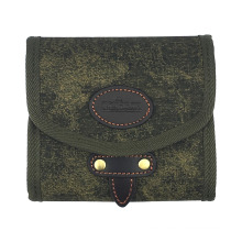 Tourbon most popular canvas and genuine leather fly fishing wallet