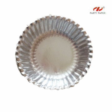 6.5 Inch Disposable Round Silver Paper Blow