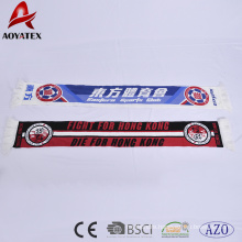 promotion super soft and warm acrylic football club scraf with tassels