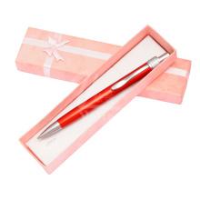 Pena romântica de venda quente com caixa de presente de cor rosa