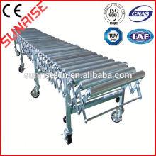 atornille el transportador de rodillo de la gravedad del transportador de rodillos del cono de acero del cartón del tornillo