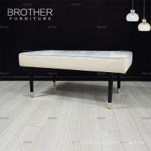 Nuevo diseño moderno muebles de china tela de madera banco vestidor