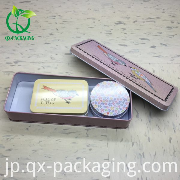 round tin box/square tin box