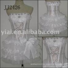 2011 el vestido nupcial JJ2426 del cordón corto verdadero del cortocircuito de la alta calidad del envío libre del precio bajo de la más nueva llegada