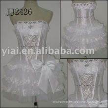 2011 newest arrival low price free shipping high quality short Real short lace bridal dress JJ2426