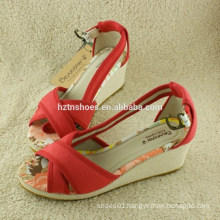 Hot sales summer wedge heel sandal women sandal young girls wedges sandal