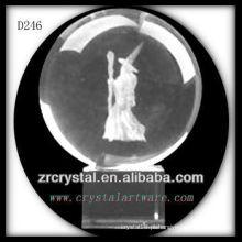 K9 3D Laser subsuperfície imagem dentro de bola de cristal