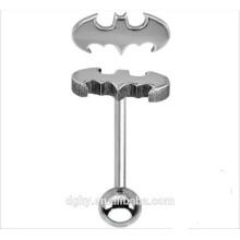 New Batman Tongue Bar Body Piercing Jewellery