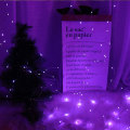 Romantic Purple Icicle Curtain Copper Starry Lights