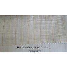 Nouveau tissu de rideau transparent Organza Voiture de rayures de projet populaire 008271