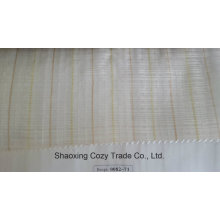 New Popular Project Stripe Organza Voile Sheer Curtain Fabric 008271