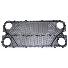 Placa de acero inoxidable para intercambiador de calor de placas de refrigeración de aceite (igual a M15)