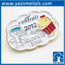 Placa del personal voluntario / tag / bagde / brooch