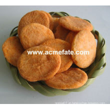 Bolachas de arroz redondas de produto novo