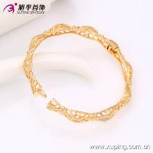 51412 forme simple haute qualité 20 grammes plaqué or bracelet de mode en alliage de cuivre pour les femmes