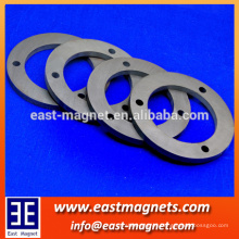 ndfeb magnet with 3 holes/N52 powerful neodymium ring magnet for sale