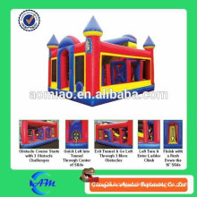 hot adult inflatable obstacle course, interactive inflatables, inflatable obstacle bouncy for sale