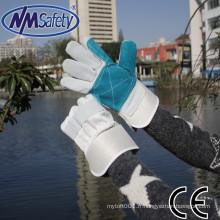 NMSAFETY vache split gants de travail en cuir gants de soudage caoutchoutent