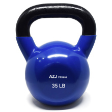 35 LB Blue Vinyl Coated Kettlebell