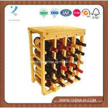 Holz und Metall Weinregal für die Lagerung