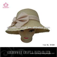 Chapéu feminino de moda Sun com flor