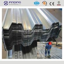 Placa de aço inoxidável de materiais frio rolados quente de aço carbono laminadas ondulado galvanizada chapa metálica do decking de chapas de aço