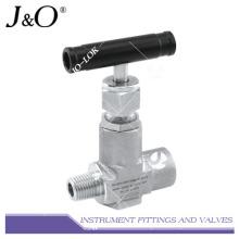 Válvula de agulha do instrumento de rosca de aço inoxidável