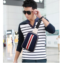 Fashion Striped Crossbody Shoulder Bag for Men