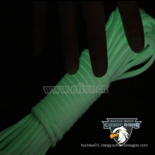 Glow in dark nylon rope 2mm 4mm paracord for outdoor camping -hiking