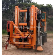Highway Guardrail Pile Driver and Extractor