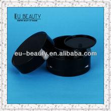 50г Черный цилиндр Акриловый крем банку пустой косметический контейнер