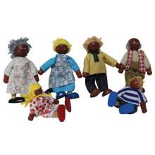 Minha série de família feliz mini família de boneca de madeira