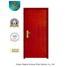 Puerta de acero de seguridad Simplestyle rojo marrón (B-1010)