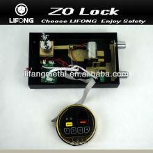 Electronic safe fingerprint lock mechanism