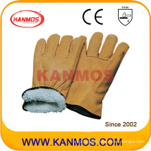 Cowhide Grain Industrial Leather Full Boa Lining Winter Safety Work Glove (12305)