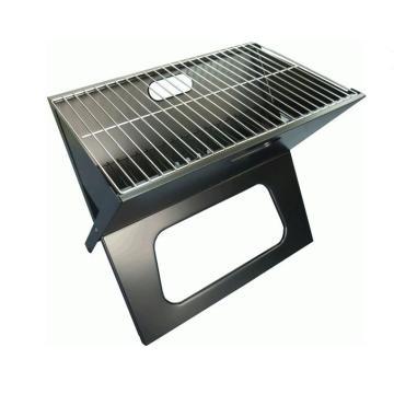 Faltender Notizzettel Barbecue Holzkohle Grill