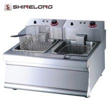 K016 Portable Fast Top Equipment Fast Food Equipment 2-Tank 2-Basket Electric Fryer