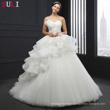 SL-038 Nouvelle Arrivée Tulle Beaded Lace Appliques 2016 robe de mariée Robe de mariée