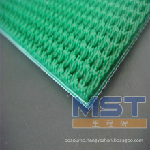 Plastic mesh conveyor belt