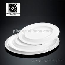 P & T Porzellan Chaozhou, Werbe-Platten, Keramik ovalen Platten