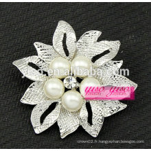 Broche en strass en perle de mode imitée